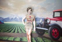 Idaho Potato Museum - Wada Farms Exhibit / Ever want to take a photo with Marilyn Monroe in a burlap potato sack?  Now you can the next time you are the Idaho Potato Museum located in Blackfoot, ID.