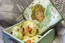 Decoupage Christmas Box-Rustic Christmas