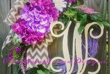Chic Wreaths and Designs / Door decor designed by Chic Wreaths and Designs!