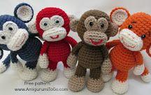 Amigurumi monkeys