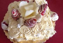 Cake with cream  frosting