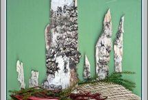 Képek természetes anyagokból / Csak a természetben előforduló termésekből fa kérgekből virágokból készült képeim.