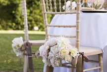 Seating Ideas / Chairs, benches and everything in between. How you seat your guests is as important as the invitations!