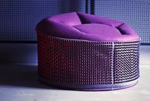 "POUF ""plum"" / Pouf ""plum"" by Aleksandra Richert"