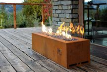 Galio Corten - Outdoor Gas Fireplace by Planika