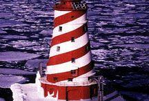 lighthouses / by Judy Tinsley Vitali