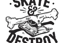 Skateboarding graphics