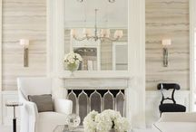 White living rooms / Beautiful and pristine white living room interior design