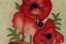 virág díszek