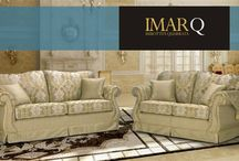 IMARQ FURNISHING DESIGN MADE IN ITALY / The IMAR Q upholstery company was founded in 1968 by two brothers Adello and Giuseppe Magni.  As the years passed, the company began to stand out in the marketplace thanks to its quality.  IMAR Q still produces upholstery with the care it has always taken. This can be seen in their choice of materials, their attention to detail, an their specialization in loose covers, a rarity in this type of classic product. These factors have helped them to become leaders in their marketsector.