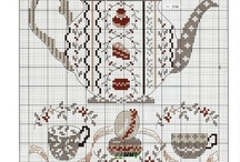 Cross stitch kitchen / Cross stitch of food, drinks and other related things from the kitchen