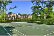 Tennis Courts / Get your tennis racket ready, these homes have tennis courts that may help you get to the #usopen