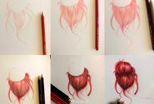Draw hair