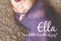 Birth Announcement and Gift Card ideas