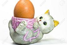 Cat Egg Cups