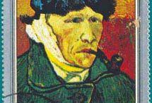 postzegels van. Gogh