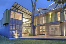 Farfield Eco Forest Estate / Converted marine Storage Container homes