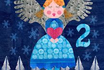 Christmas Advent 2015 / Countdown to Christmas, adding an illustration everyday until Christmas day.