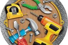 Handyman Tool Theme Birthday Party Ideas / Construct an amazing party for your junior Handyman! Here are some great Handyman Tool party ideas and a collection of our most popular Handyman Party Supplies, which can also be found at http://www.ezpartyzone.com/cat-handyman-party-supplies-tool-time-party-decorations.cfm