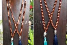 Ethnic Tassels Necklaces Design / yoga prayer wooden handmade ethnic design necklaces collections women and men accessories