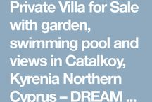 Private Villa for Sale with garden, swimming pool and views in Catalkoy, Kyrenia Northern Cyprus – D