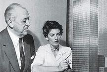 Mies Van Der Rohe / Fotos do Arquiteto Van der Rohe e suas obras, tanto dentro, quanto fora da Bauhaus.