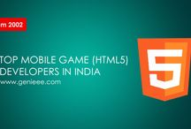 Top Mobile Game (HTML5) Developers in India / Genieee is one of India's leading html5 mobile game developers. Founded in 2002, it provides a range of game development services to the games industry across the globe. The company has already worked on over 100 titles across a wide range of platforms and genres.  The company hones its expertise in various 2D and 3D games which include sports, education, casino games, arcade and action games, puzzle and dice games. All these makes us top most html5 game development company in India.