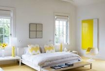 żółta sypialnia