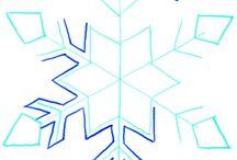 снежинки, новый год