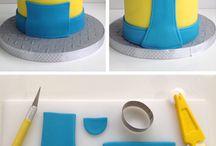 Cakes children Minions