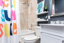 Weekend Bathroom Updates With The Home Depot / How to update your bathroom in just one weekend with zero dust, but with a major wow factor. See how we partnered with the Home Depot for this transformation: http://blog.homedepot.com/kids-bathroom-updates-weekend/