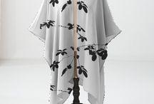FASHION WOMAN : LEAVES / Design textil by an artist