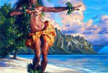 Deniz ve dans Hawai kızı