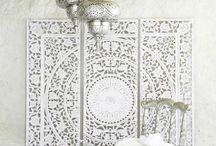 A ) decoración marroquí