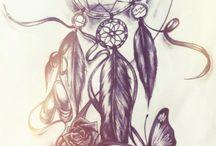 Traumhaft schöne Zeichnungen und Tattoos