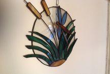 Tiffany (glas-in-lood) / Werkstukken van glas met de tiffany-techniek