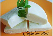 Evde peynir yoğurt doğal her şey