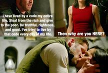 Outlaw Queen a.k.a Robin Hood and The Evil Queen a.k.a Sean Maguire and Lana Parrilla