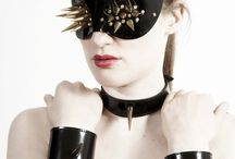 paul seville leather Body jewellery / Selection of masks & handcuffs from the paul seville Equus Fabula collection