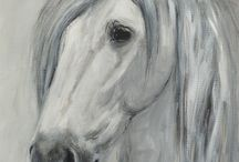 Horse art by Claudia Gaede / Paintings of horses, andalusians