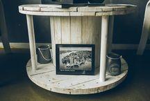 Стол из катушки / Wood Drum – это столы из деревянных барабанов (кабельных катушек). Необыкновенные превращения в стильные вещи. Деревянные барабаны, стол из катушки, стол