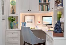 Home Office Inspiration / Inspiring Modern Farmhouse Home Office Decor and Home Office Ideas