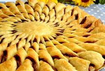 girasole di pasta sfoglia e nutella