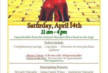 """""""Follow the Olivet Road"""" / 3rd Annual """"Follow the Olivet Road"""" Saturday, April 13th 11-4pm.   -Complimentary tasting at 9 wineries -Logo Glass to take home -Discounts on wine purchases -Food trucks -Music-Wizard of Oz Cheer!  Advanced Tickets: $20 wine club $30 public  At the Door: $25 wine club $35 public  **$5 for Designated Drivers   http://www.olivetroad.com/ Tickets Available:  http://tasteofolivet2013.eventbrite.com"""