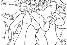 coloring pages(lion king)