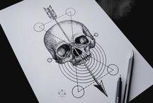Tattoo caveiras e logos