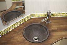 モザイクタイル洗面台