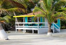 Belize Accommodations - Blue Marlin Beach Resort / You can choose from 4 accommodation types at Blue Marlin Beach Resort: Private Cabana, Private Family Cabana, Island View Cabin, or Standard Room.