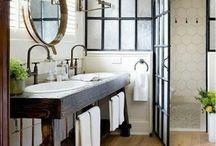 Mesas de baño rusticas