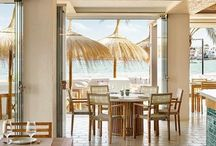 Chambao Beach Restaurant / Balearic specialities served as you sit with your feet in the sand, sipping on sangria. Chambao by Nobu Hotel Ibiza Bay.